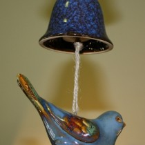 Ceramic bird chime bell $28.50