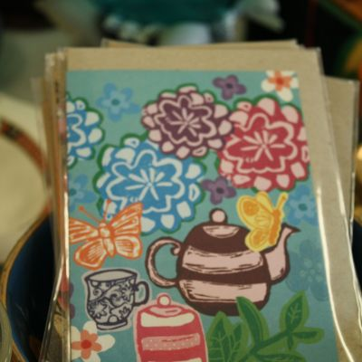 Teapot artist card by Blueberry