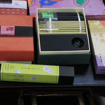 Japanese incense gift boxes