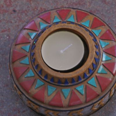 colourful tealight holder indian